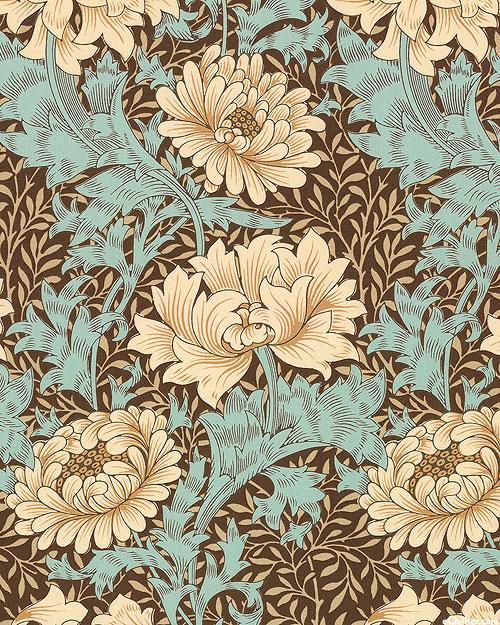 Merton - Chrysanthemum - Patina Blue