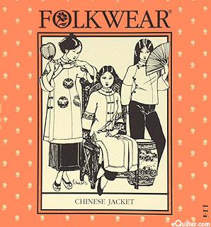 Chinese Jacket  Pattern - by Folkwear