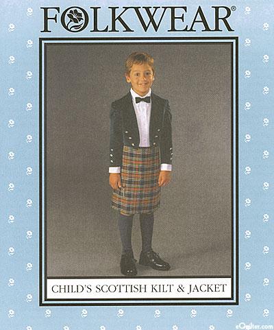 Child's Scottish Kilt & Jacket - by Folkwear