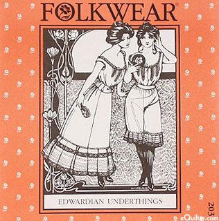 Edwardian Underthings Pattern - by Folkwear