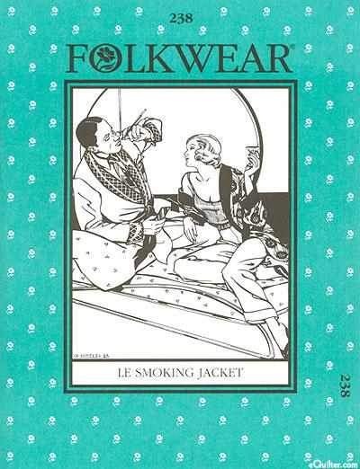 Le Smoking Jacket Pattern - by Folkwear