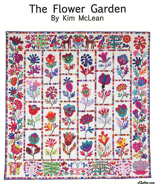 The Flower Garden - Applique Quilt Pattern by Kim McLean