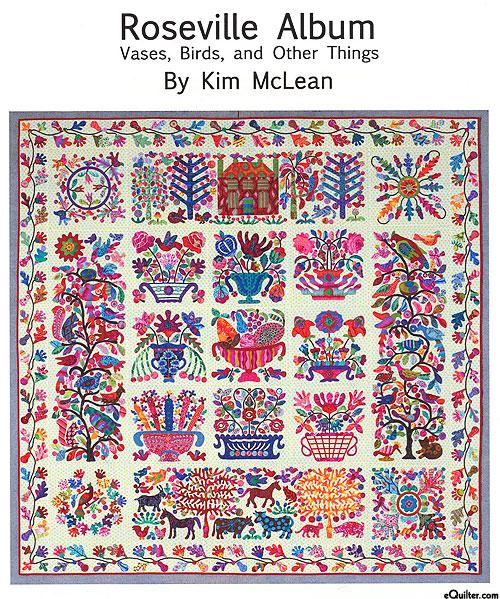 Roseville Album - Applique Quilt Pattern by Kim McLean