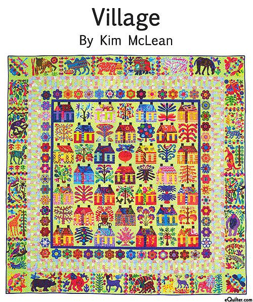 Village - Applique Quilt Pattern by Kim McLean