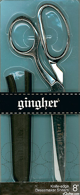 """Gingher 8"""" Bent Shears - RIGHT Hand - Silver"""