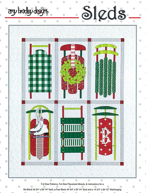 Sleds - Applique Quilt Pattern by Amy Bradley Designs
