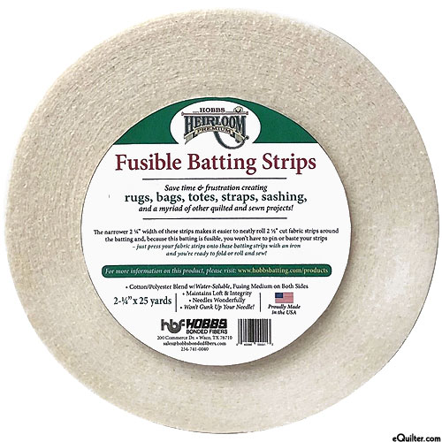 Hobbs Heirloom FUSIBLE Batting Strips - 80% Cotton/20% Poly