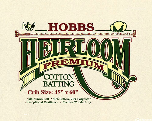 "Hobbs Heirloom Premium Batting - Cotton/Poly - Crib 45"" x 60"""