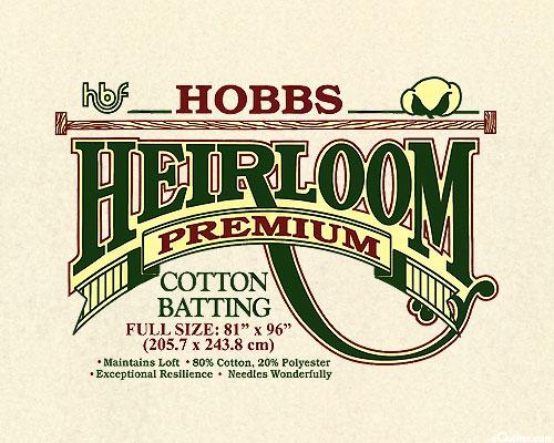 "Hobbs Heirloom Premium Batting - Cotton/Poly - Full 81"" x 96"""