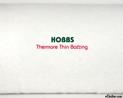 "Thermore Thin Batting - White - 100% Polyester - 45"" Wide"