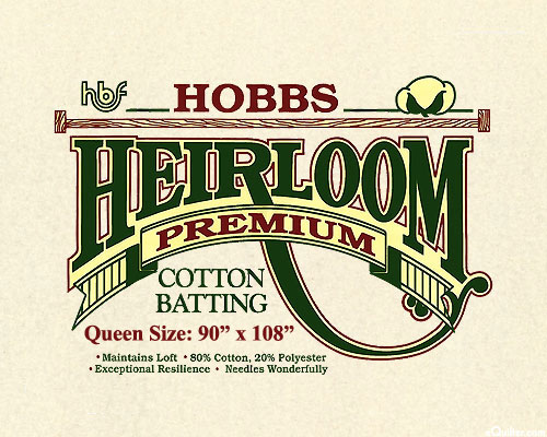 "Hobbs Heirloom Premium Batting - Cotton/Poly - Queen 90"" x108"""