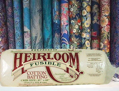 "Hobbs Heirloom FUSIBLE Batting - Cotton/Poly - Crib 45"" x 60"""