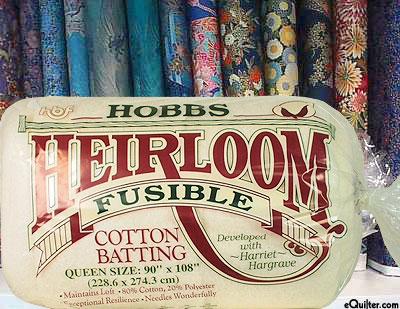 "Hobbs Heirloom FUSIBLE Batting - Cotton/Poly - Queen 90"" x 108"""