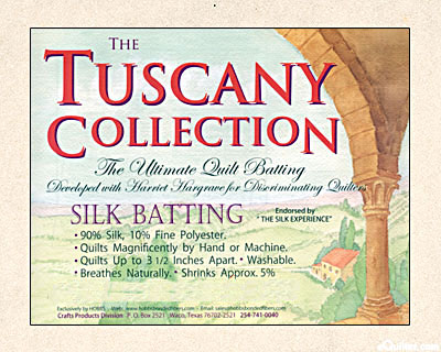 "Hobbs Tuscany Batting - 90% Silk/10% Poly - 96"" Wide"