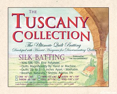 "Hobbs Tuscany Batting - 90% Silk/10% Poly - Queen 96"" x 108"""
