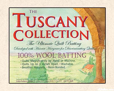 "Hobbs Tuscany Batting - 100% Wool - 96"" Wide"