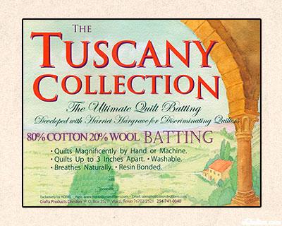 "Hobbs Tuscany Batting - 80% Cotton/20% Wool - 96"" Wide"