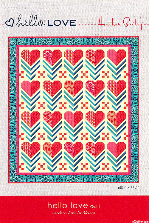 Hello Love - Quilt Pattern by Heather Bailey