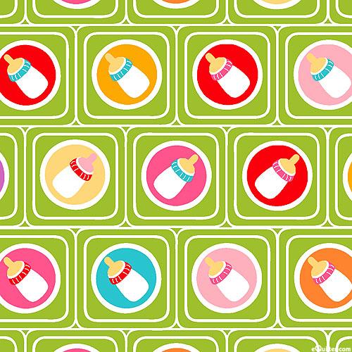 Cutie Tootie - Baby Bottle Blocks - Grass Green