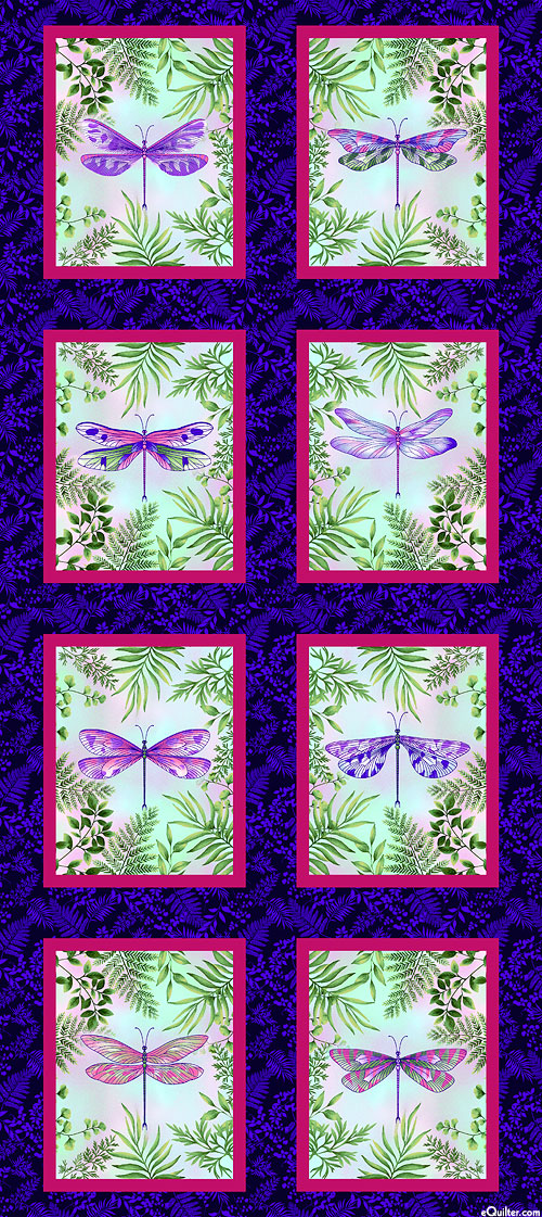 "Dragonfly Garden - Study of Wings - 24"" x 44"" PANEL"