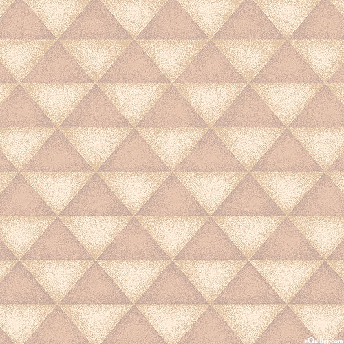 Folk Art 4 - Pyramids - Natural - FLANNEL