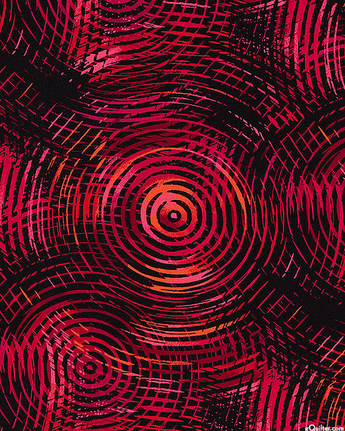 """Circle Play - Ruby Red - 108"""" QUILT BACKING"""
