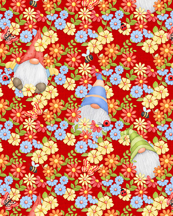 Gnome Is Where Your Garden Grows - Flowers & Noses - Red