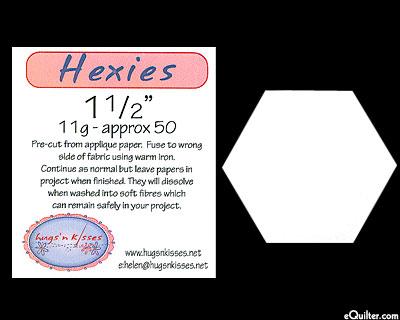 """Pre-Cut Hexies Fusible Applique Paper Pieces 1 1/2"""""""