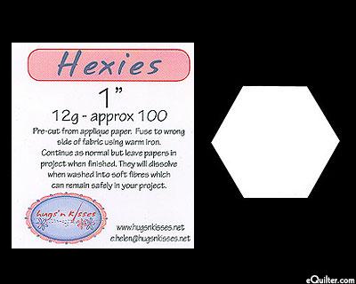 """Pre-Cut Hexies Fusible Applique Paper Pieces 1"""""""