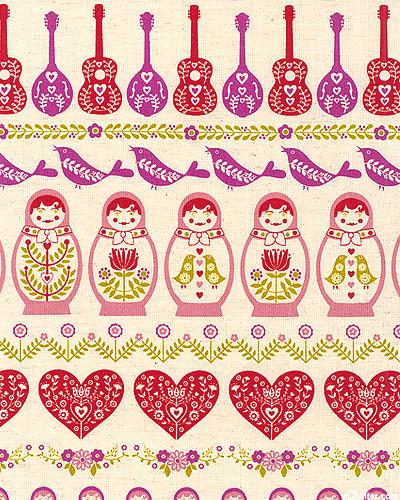Japanese Import - Dolls & Mandolins - Natural - COTTON/LINEN