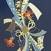 Noshi Ribbon Bundle - Noren Panel - Indigo/Gold