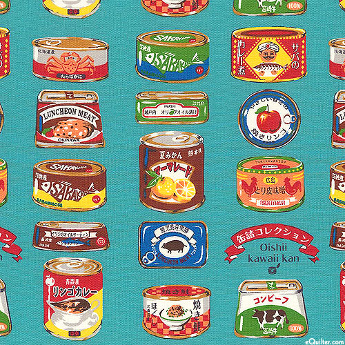 Japanese Import - Canned Delicacy - Teal - OXFORD