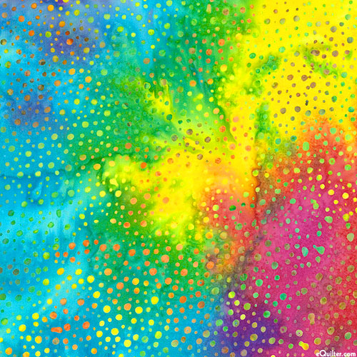 Atmospheric Dot Batik - Rainbow