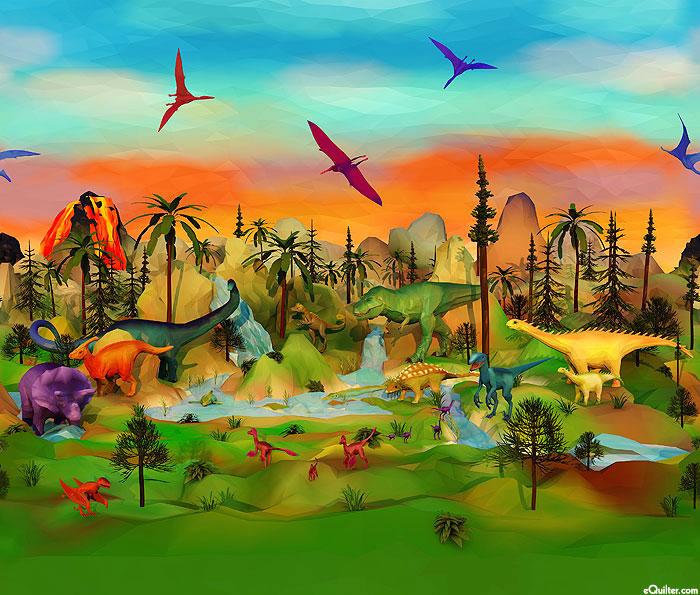 Dino-Mite - Big Jurassic Border - Multi - DIGITAL PRINT