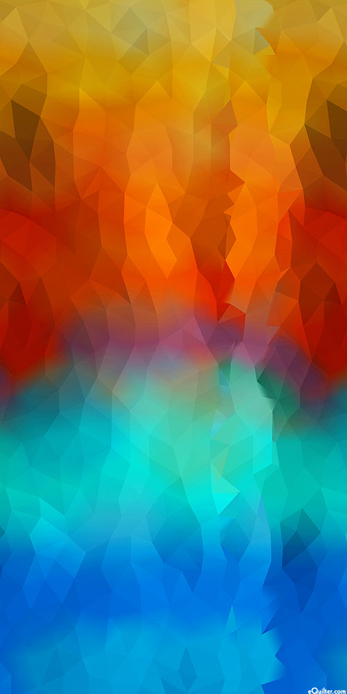 Dino-Mite - Poly Prism Ombre - Sunset - DIGITAL PRINT