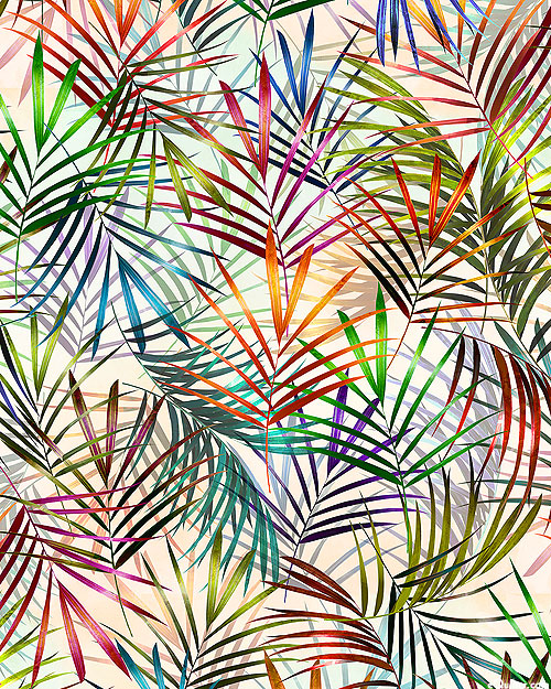 Meet Me in Paradise - Frond Fest - Opal White - DIGITAL PRINT