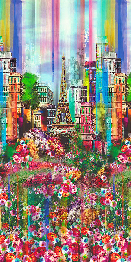 Wanderlust - About Paris Border - Multi - DIGITAL PRINT