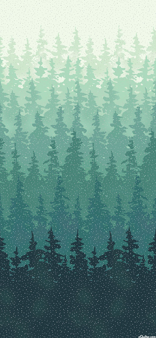 Perch - Woodland Thicket Border - Teal/Silver