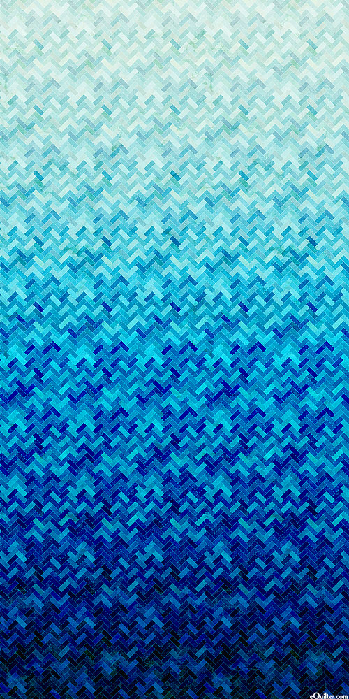Backsplash - Bricklay Ombre - Glacier Blue - DIGITAL PRINT