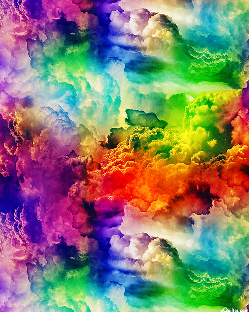 Radical Rainbow - Cumulus Clouds - Multi - DIGITAL PRINT