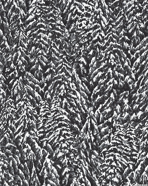 Nocturne - Packed Snowy Conifers - Charcoal/Silver