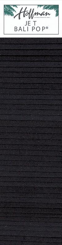 "Indah Solids Hand-Dye - Jet Black - 2 1/2"" Strips"