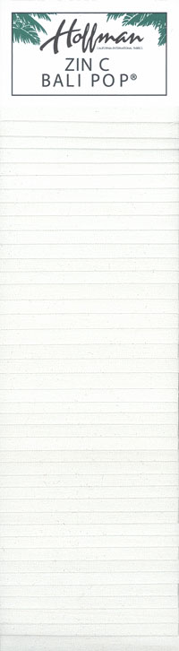 "Indah Solids Hand-Dye - Zinc White - 2 1/2"" Strips"