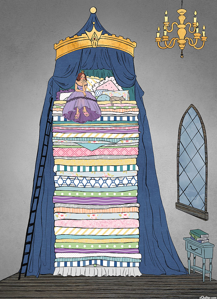 "The Storybook Collection - Princess & The Pea - 60"" x 44"" PANEL"
