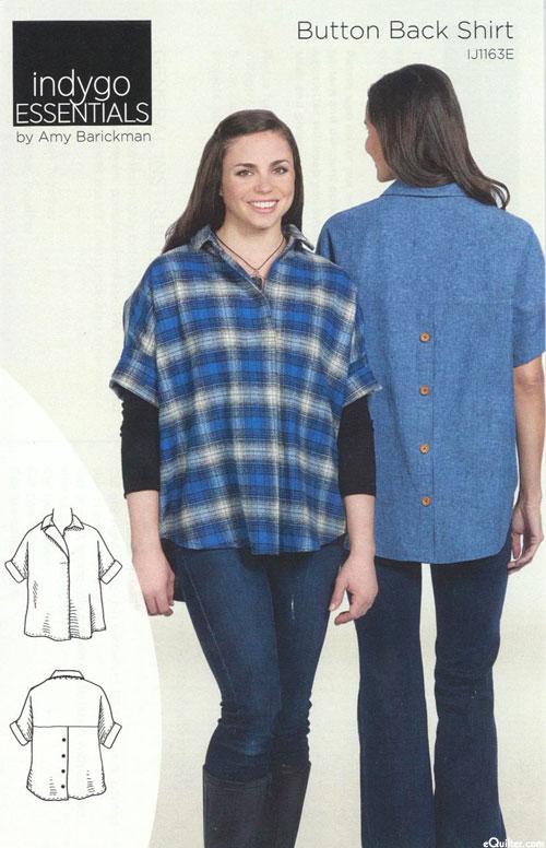 Button Back Shirt - Pattern by Amy Barickman