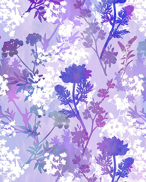 Garden of Dreams - Floral Silhouette - Lilac - DIGITAL PRINT