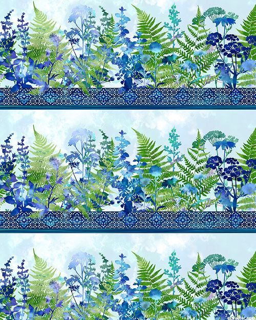 Haven - Colorful Forest Stripe - Bluebell - DIGITAL PRINT