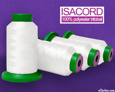Basic - Isacord Polyester Embroidery Thread - White