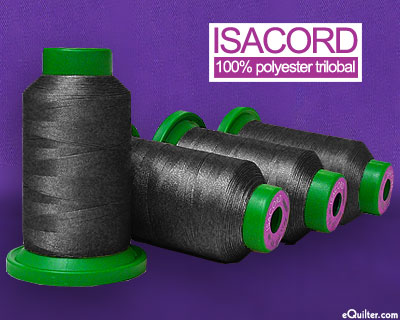Isacord Polyester Embroidery Thread - Classic Black