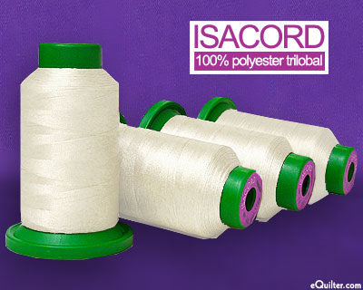 Cream - Isacord Polyester Embroidery Thread - Eggshell